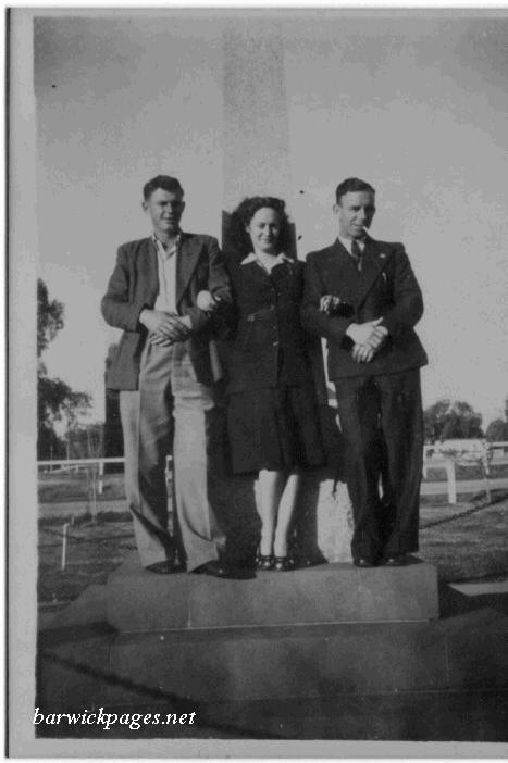 William(left) & Edward George White with Gloria Rose Davis in the middle.
