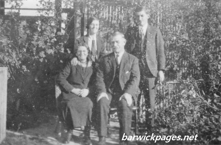 Clara Heath(Hosking) with husband Will Heath and 2 of their children