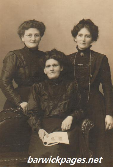 Elizabeth, Clara(Heath)and Mary Ann Hosking