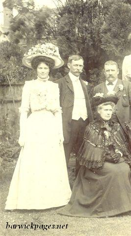 From left - Daisy Witts then her father - Thomas Witts & mother Agnes Witts(Mills) sitting.